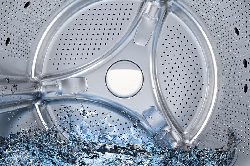 Water in wasmachine loopt niet weg